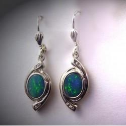 Boucle d'oreille opale naturelle