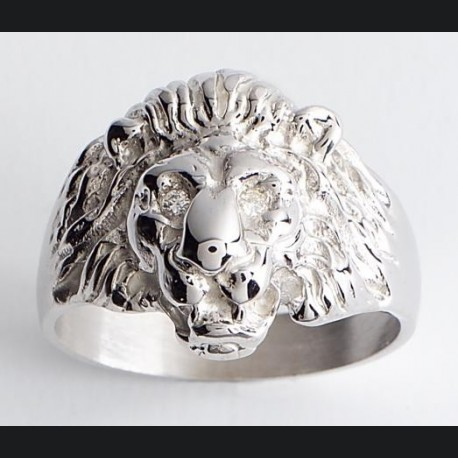 Bague argent tête de lion