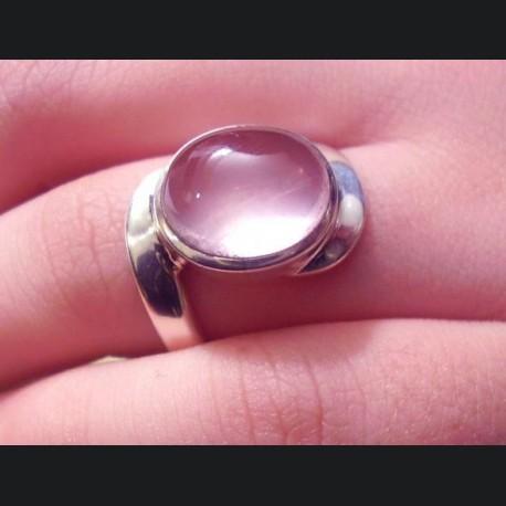 Bague quartz rose