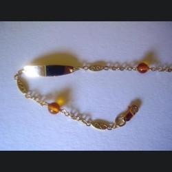 Identité bébé or et ambre