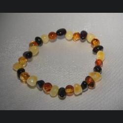 bracelet bébé ambre multi