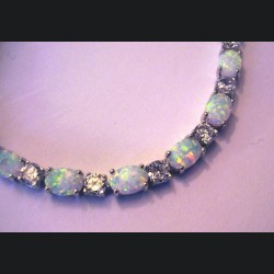 Bracelet argent massif et opale