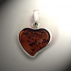 Pendentif coeur ambre