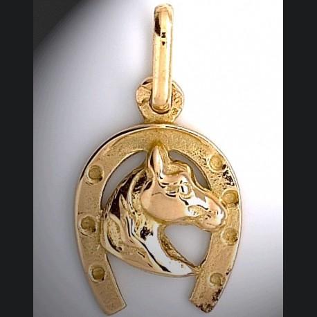 Fer et tete de cheval or