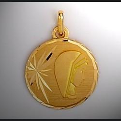 Médaille vierge parchemin Or