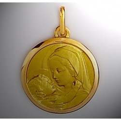 Médaille vierge ronde Or