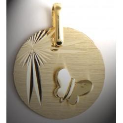 Médaille papillon or