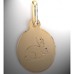 Médaille lapin or