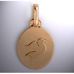 Médaille colombe or