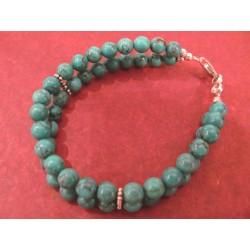 Bracelet turquoise et argent