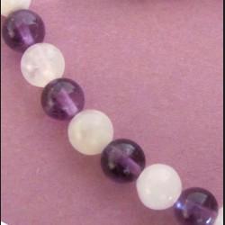 Bracelet Pierre de lune, onyx et argent