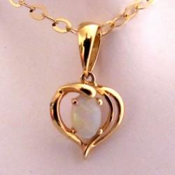 Pendentif or et opale