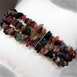Bracelet 3 rangs perles de cultures et argent massif