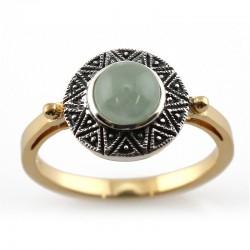 Bague argent et jade naturelle