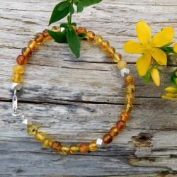 Bracelet ambre et argent