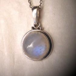 Pendentif pierre de lune et argent