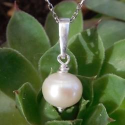 Pendentif perles de culture d'eau douce