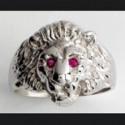 Chevalière argent tête de lion, indien, aigle,...