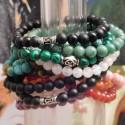 Bracelets argent et pierre naturelles